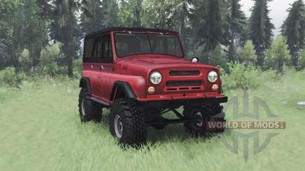 UAZ 469 rojo v1.2 para Spin Tires