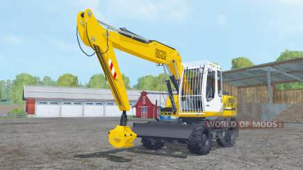 Liebherr A 900 Compact Litronic forest para Farming Simulator 2015