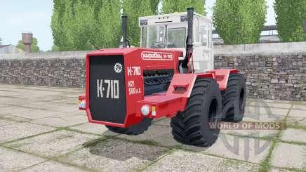 Kirovets K-710 ruedas duales para Farming Simulator 2017