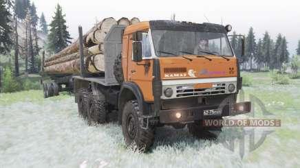 KamAZ 5350 moderadamente-naranja para Spin Tires