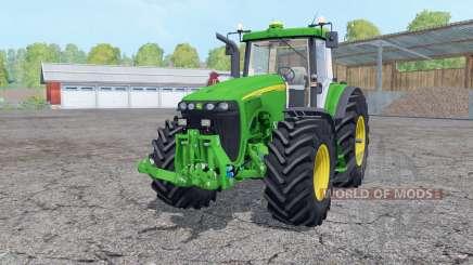 John Deere 8520 working mirrors para Farming Simulator 2015