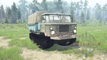 GAZ 66 caterpillar para MudRunner