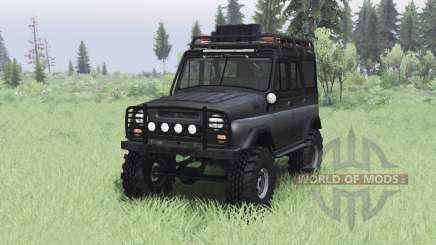 UAZ 469 negro v1.2 para Spin Tires