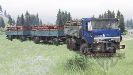 KamAZ 5350 azul oscuro para Spin Tires